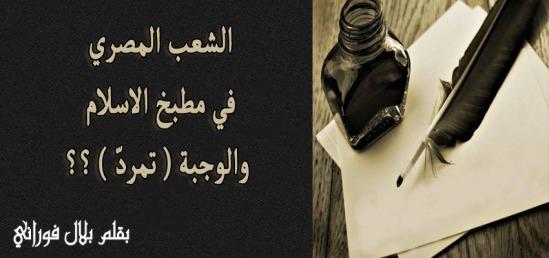 الشعب المصري في مطبخ الاسلام والوجبة ( تمرد ) ؟